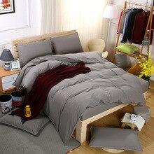 New AB Side Bedding Set Super King Duvet Cover Dark blue +beige 4pcs BedClothes Adult Bed Man Flat Sheet 230X250cm