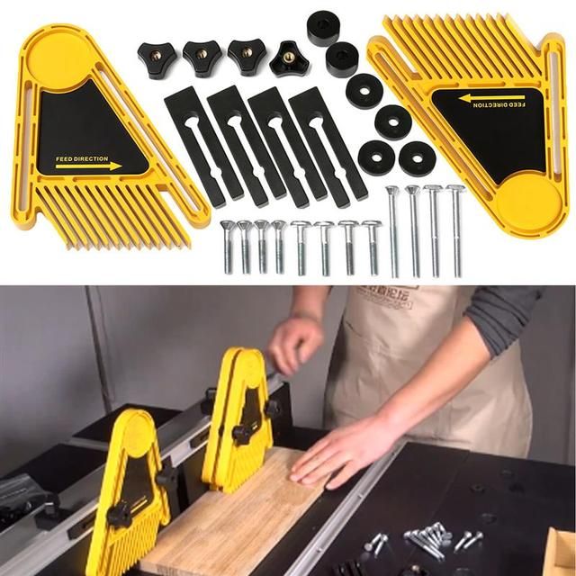 Multi purpose tools set double featherboards table saws router multi purpose tools set double featherboards table saws router tables fences electric circular saw diy greentooth Images
