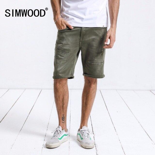 Pantalones cortos de mezclilla de marca SIMWOOD para hombre b1bc0a0899e7
