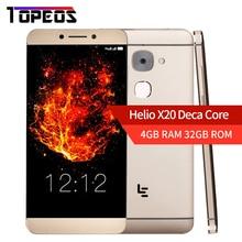 LeEco LeTV Le S3 X626 5.5 дюймов в ячейке LeTV S3 helio X20 Дека core 4 г Оперативная память 32 ГБ Встроенная память 21MP 1920×1080 P отпечатков пальцев мобильный телефон