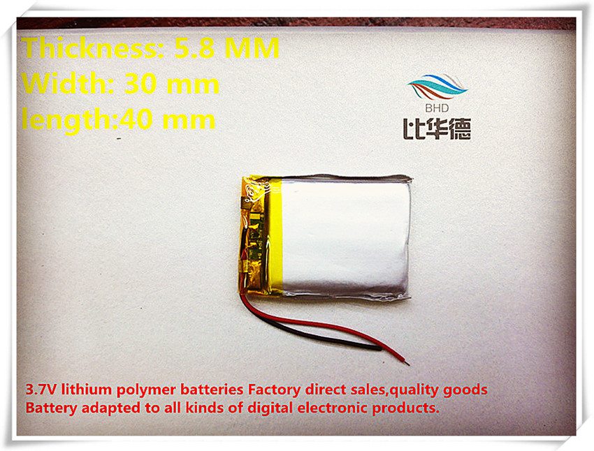 3,7 V 583040 603040 600 Mah Lithium-ionen Polymer Batterie Qualität Waren Qualität 10 Teile/los GroßZüGig
