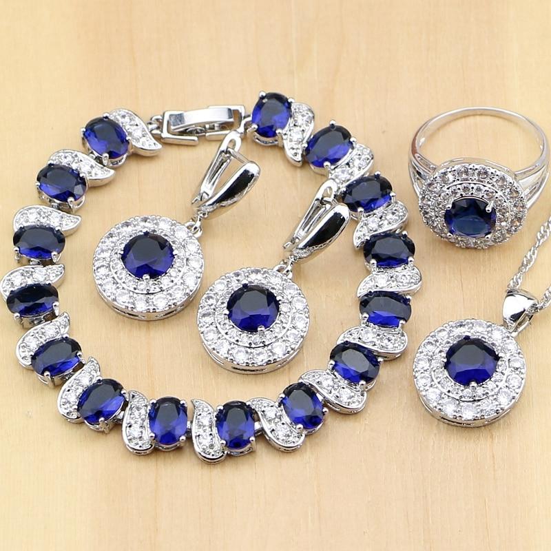 Bridal Jewelry Sets Blue...