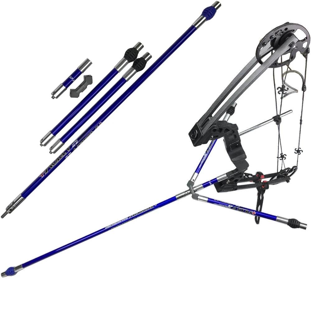 Archery Carbon Stabilizer Set Balance Bar Rod for Recurve Compound Bow Shooting