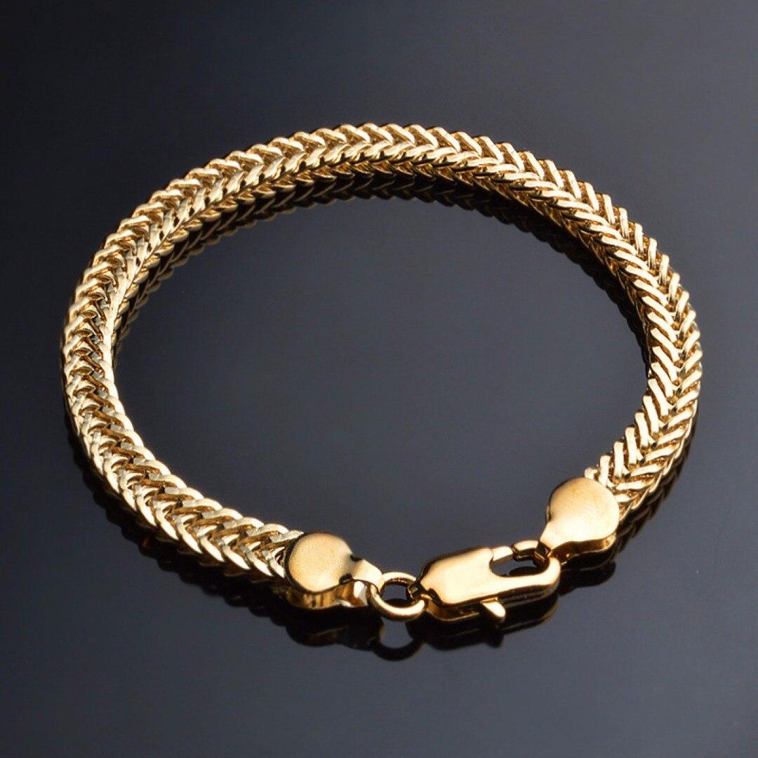 Men Luxury Gold Color Bracelets Shellhard Fashion Jewelry pulseira feminina Charming Chain Bracelet Bangles