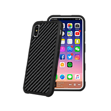 Anti-Shock Anti-Slide Case Real Carbon Fiber+PC+TPU For iPhone X with Magnetic Backplate for Car Holder