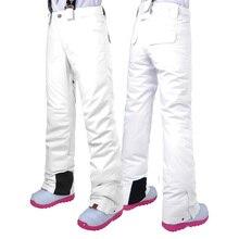 Женские лыжные штаны, брендовые, новые, для спорта на открытом воздухе, высокое качество, подтяжки, брюки для женщин, ветрозащитные, водонепроницаемые, теплые, зимние, для сноуборда