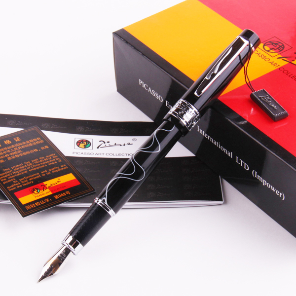 Pimio picasso eurasian symphony pure black iridium fountain pen стоимость
