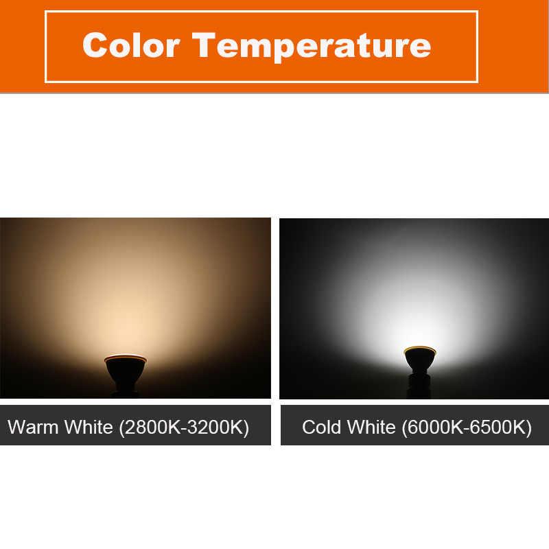Светодиодный точечный светильник GU10 6 Вт 220 В MR16 Светодиодный светильник COB Чип угол луча 120 2 Вт 4 Вт Точечный светильник светодиодный светильник для Вниз настольная лампа