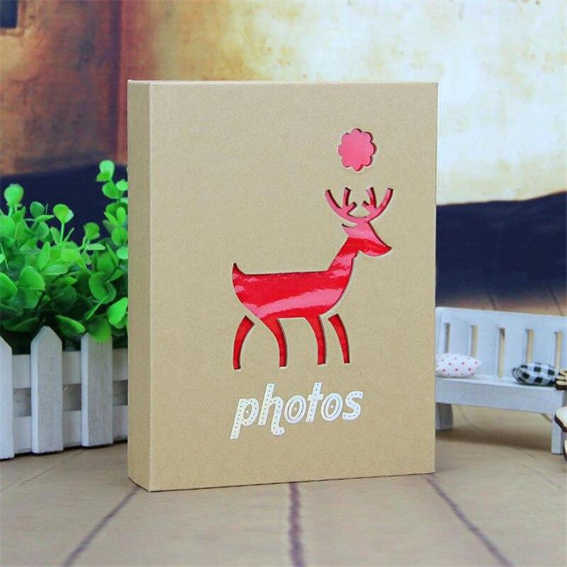 5 Inch 200 Pockets/7 100 Pockets Cartoon Photo Book Album Elephant, Giraffe, Sika Deer, Dolphin Pattern