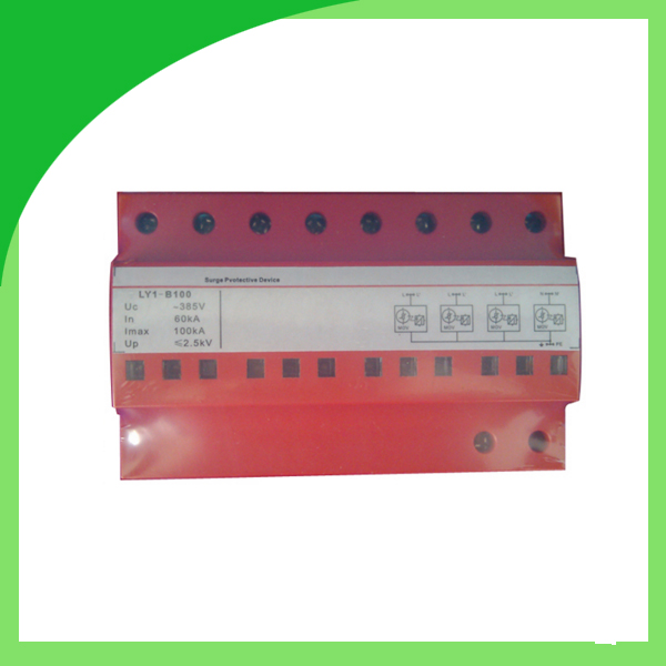 Ly9-60 385V 60ka 4pole Fuse Type Power Surge Protector Antenna Lightning Protection ui b 385v 50ka 4pole surge absorber surge suppressor lightning surge protector