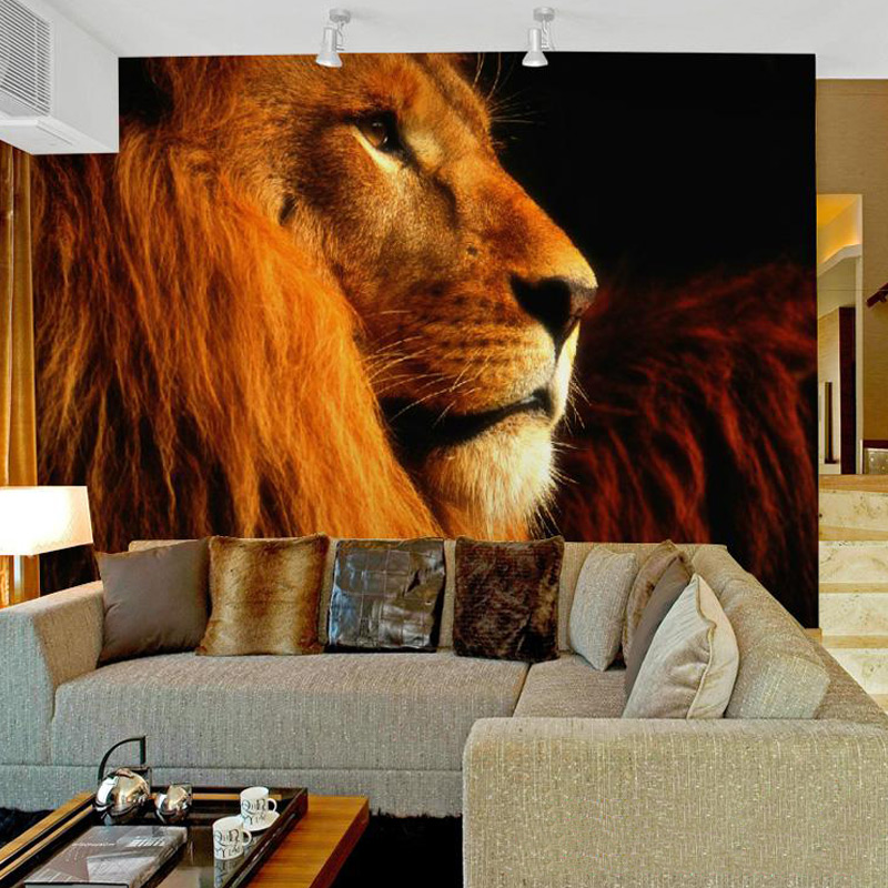 Custom 3D Photo Wallpaper 3D Lifelike Animal Lion Wall Murals For Kids Bedding Room TV Backdrop Embossed Non-woven Wall Papers 3d wallpaper custom photo wallpaper non woven wallpaper spring come animal world tv backwall living room bedding room 3d murals