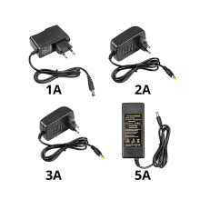 5,5 мм x 2,1 мм Универсальный Выключатель питания светодиодный драйвер 100-240 В переменного тока в постоянный ток 5 в 12 В 24 В адаптер питания с преобразователем 1A 2A 3A 5A зарядное устройство