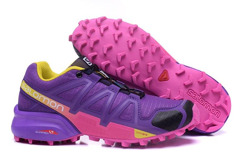 Salomon Geschwindigkeit Überqueren 4 CS kreuz-land laufschuhe Marke Turnschuhe frauen Athletisch Sport Schuhe SPEEDCROS Fechten Schuhe