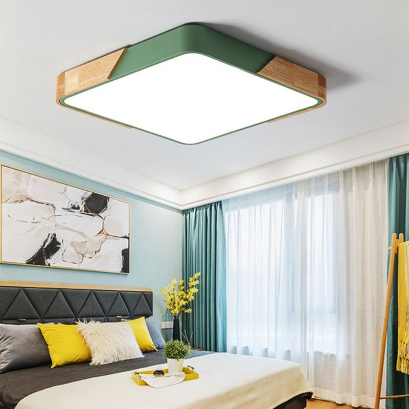 Square Flush Mount Ceiling Light | Square LED Ceiling Lights | Multicolor LED Ceiling Light Modern Lamp For Living Room, Bedroom, Kitchen Surface Mount Flush Panel lamp 5CM