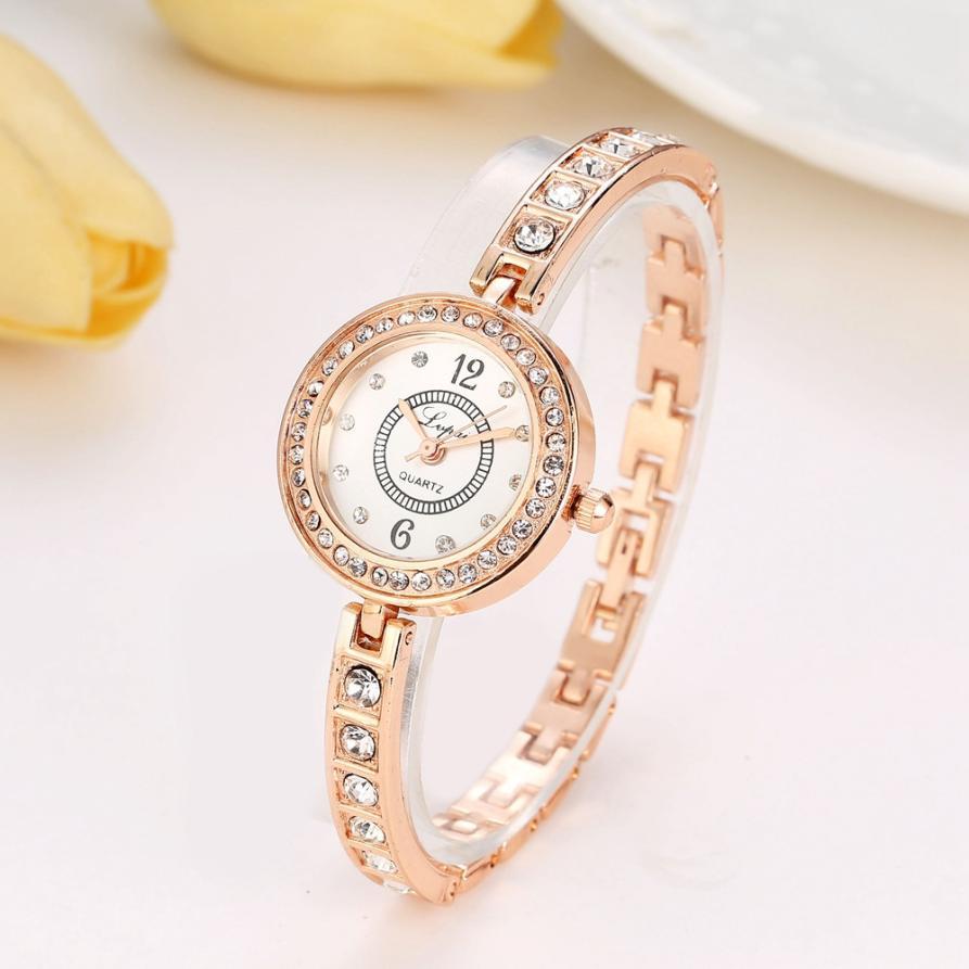 reloj mujer 2018レディース腕時計ラグジュアリーファッションレディースドレスブレスレットウォッチステンレススチールクリスタルクロックモントレファム2018ダイヤモンド