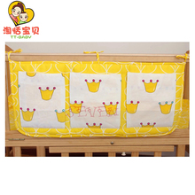 Baby Bags For Bed Cotton Bedding Sets Newborn Infant Multi-Function Hanging Bag Toddler Kids Sleeping Bed Bumpers 60*28cm