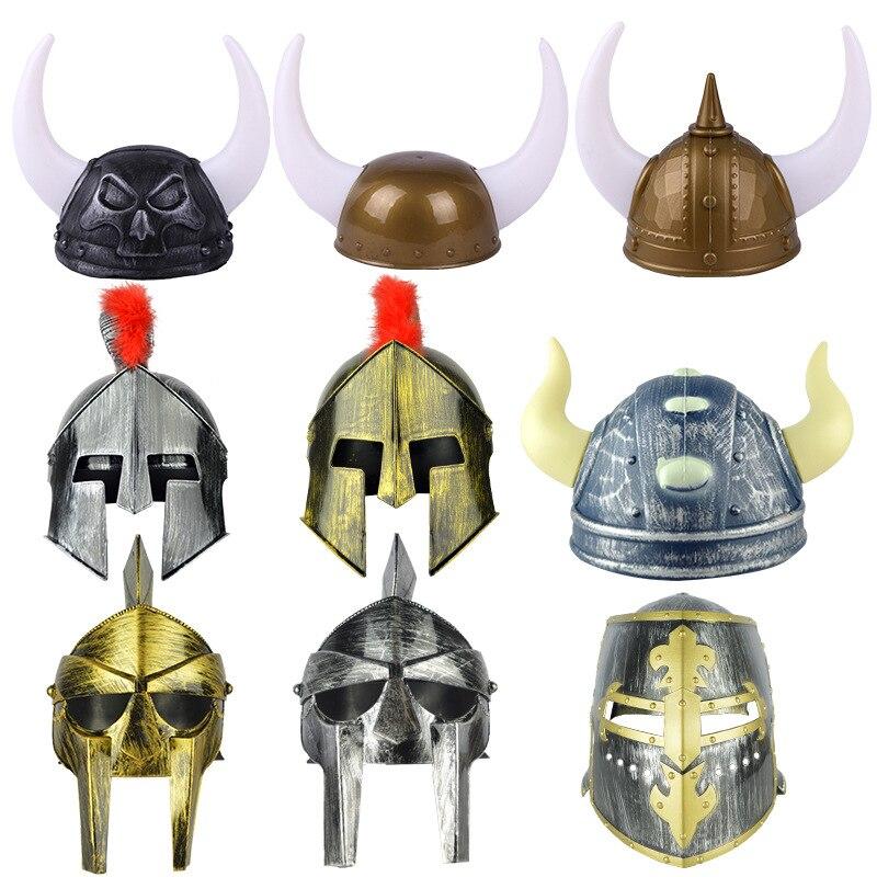 2019 Halloween Suprimentos Bola de Férias Criativo Chifre Chapéus Viking Piratas Chapéus Soldados Romanos Chapéus Chapéus Capacetes Soldado Samurai
