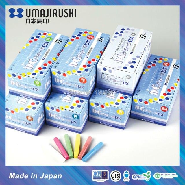 R$ 70 54 |Made in Japan Deluxe DX504 UMAJIRUSHI DC Giz Não tóxico Dustless  Giz Escolar em Hagoromo Fulltouch fórmula Premium Azul em Giz de Office