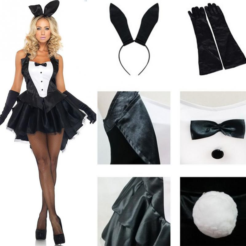 Women Sexy Bunny Girl Costume Magician Stage Performance Adult Cosplay Rabbit Halloween Tuxedo Party Mini Dress Costumes-in Movie u0026 TV costumes from Novelty ...  sc 1 st  AliExpress.com & Women Sexy Bunny Girl Costume Magician Stage Performance Adult ...