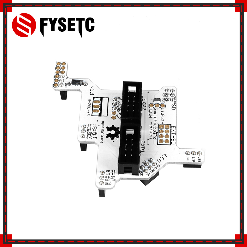 3D Printer Parts Smoothieboard 5X V1 1 Board Full Graphic LCD Adapter  Module V2 1 a Plug And Play Adapter for Smoothieboard