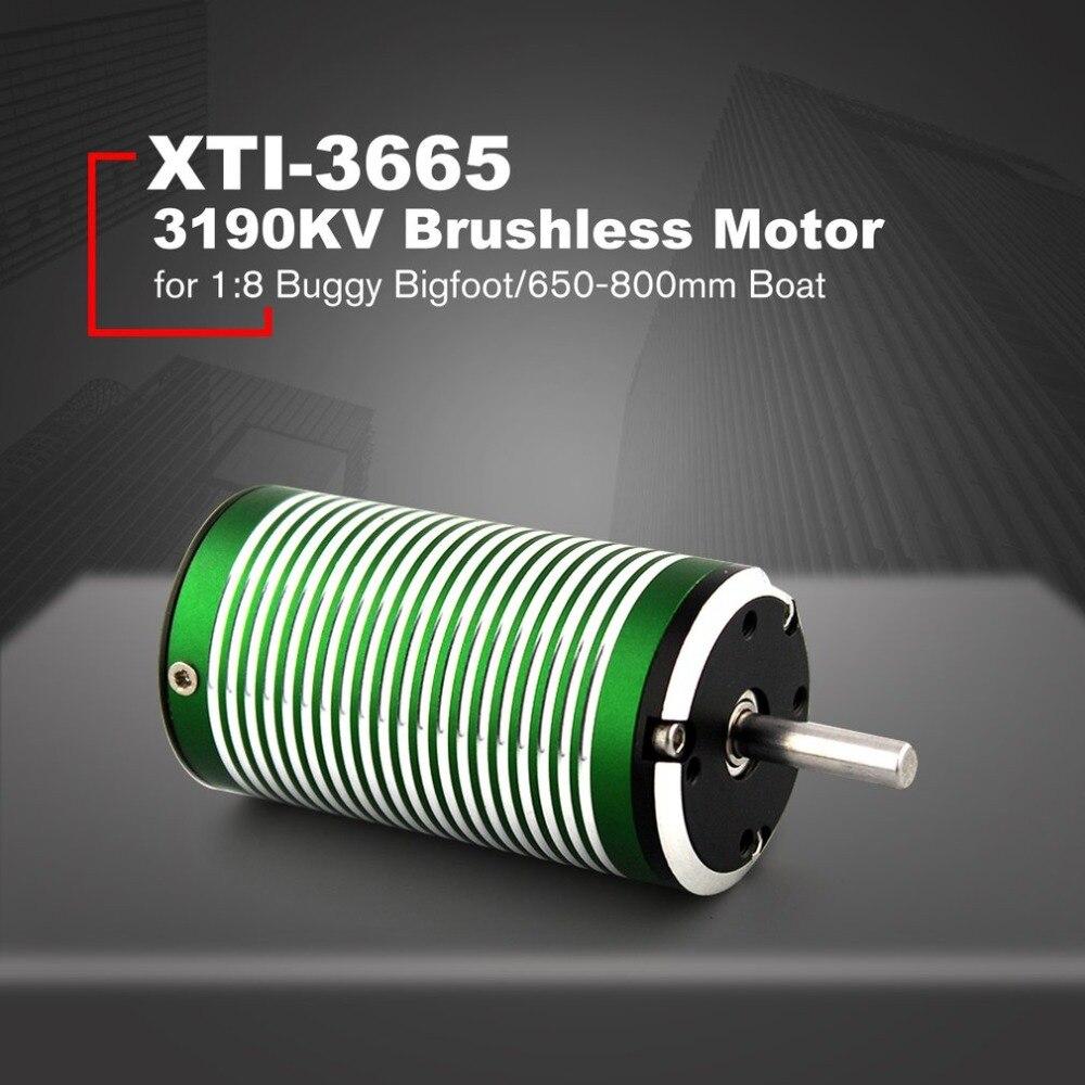 X TEAM XTI 3665 3190KV 5 milímetros Brushless Sensorless Motor para 1:8 RC Off road Buggy Car pneus Bigfoot/650  800 milímetros Barco Navio|Propulsão| |  - title=