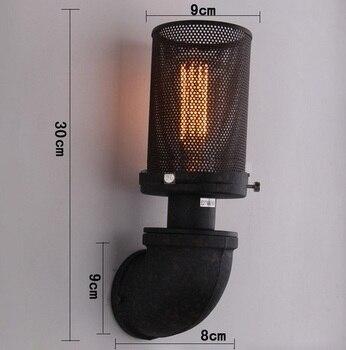 Industriële Waterleiding Lamp Loft Stijl Edison Wandkandelaar Metal Mesh Vintage Muur Verlichtingsarmaturen Home Decor Indoor Verlichting