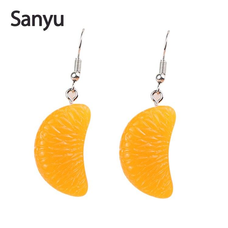 Two Pieces Cute Half Daisy Flower Dangle Earrings Acrylic Drop Earrings
