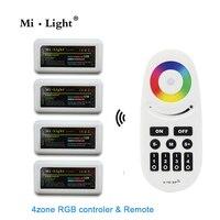 1 Remote 4 Controller Mi Light RGB RGBW Controller Group Control 2 4G 4 Zone RF