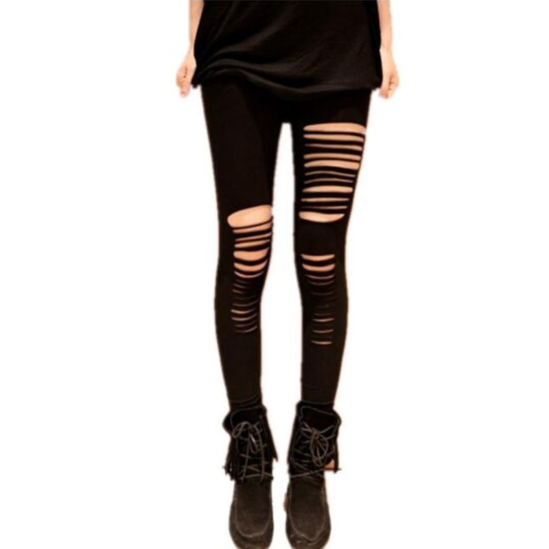 8de22a4a574fba Plus Size Leggings Women xxl xxxl Fashion Pants Adventure Time Sexy Fantasy  Black Getting Ripped Cutout Girl Leggings Punk Q7826-in Leggings from  Women's ...