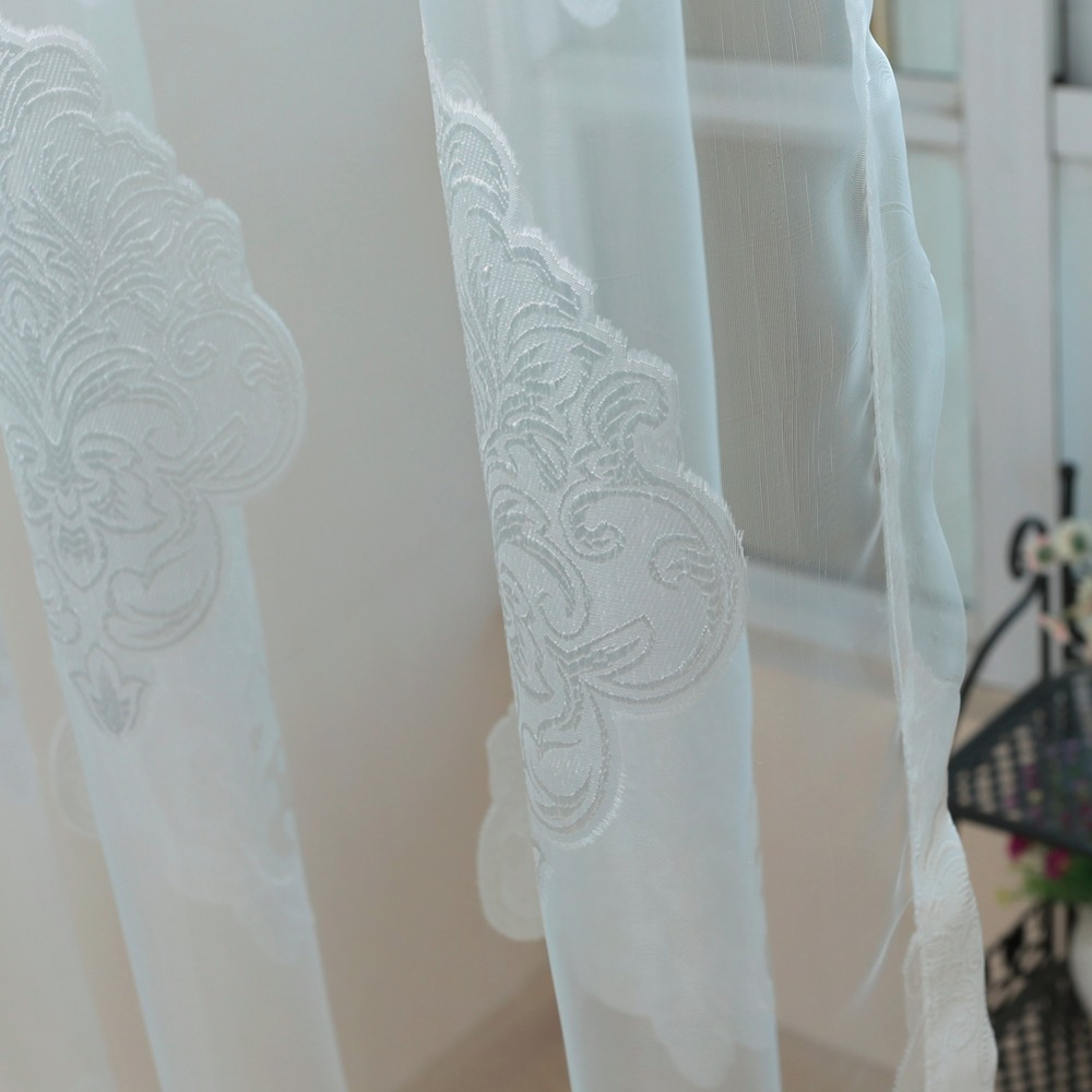 NAPEARL Luxury modern curtains tulle fabrics for window blinds bedroom sheer panel organza kitchen curtain balcony window door-in Curtains from Home & ...