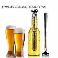1pc acier inoxydable refroidisseur bâtons bouteille intérieure bière refroidisseur bâtons pour refroidissement rapide boissons en bouteille physique congelé