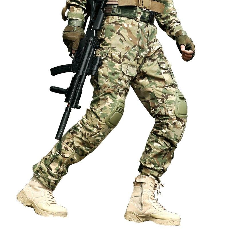 Tactical Pants Men Military Cargo Pants&Knee Pads Tactico Combat SWAT Hunter Trousers Pantalones Hombre Militaire CS Clothes