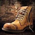 OTTO Top Qualidade Artesanal de Couro Genuíno High Top Ankle Boots Marca de Moda Martin Bota Com Zíper Clássico Homens Sapatos Ao Ar Livre