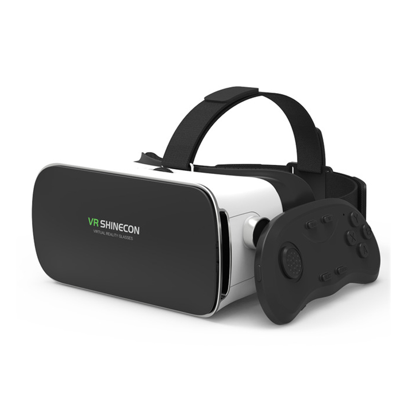 Shinecon VR Glasses Virtual Reality Helmet Wireless Bluetooth 3D Glasses 3D Goggle Games Video Cinema for 4.5 6 Smart Phone