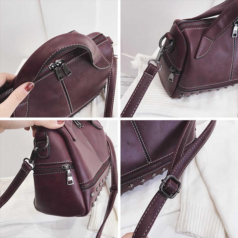 JIEROTYX Leder Designer Handtaschen Hohe Qualität Frauen Taschen Sexy Niet Stamm Tote Spanisch Marke Schulter Tasche Damen Große Bolsos