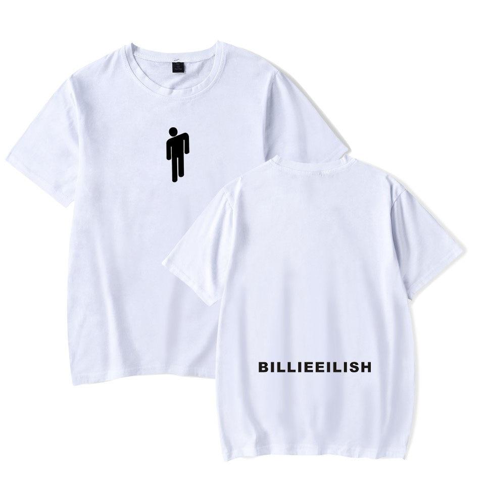 Billie Eilish Streetwear Hip Hop T Shirt Harajuku Casual O-Neck Short Sleeves Boy Girl T-shirt Billie Eilish Unisex T Shirt