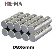 30Pcs 8x6 Neodymium Magnet Permanent N35 NdFeB Super Strong Powerful Small Round Magnetic Magnets Disc 8mm x 6mm