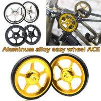 2pcs Aluminium Alloy Wheel Modification Kits Easy Wheel for Brompton BB55 Trainers & Rollers     -