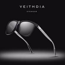 VEITHDIA Model Unisex Retro Aluminum+TR90 Sun shades Polarized Lens Classic Eyewear Equipment Solar Glasses For Males/Ladies 6108