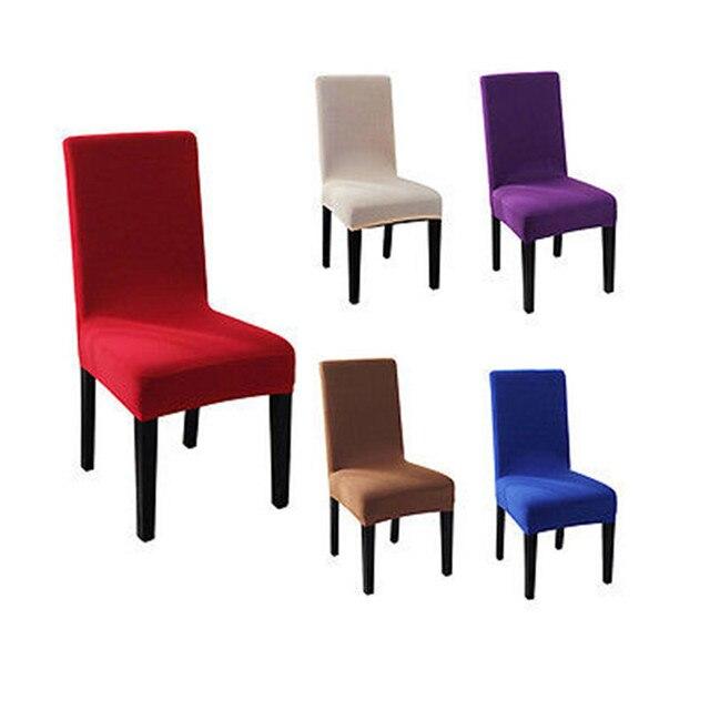 fashoin pure kleur spandex stretch stoel cover wedding banquet party decor eetkamer stoelhoezen