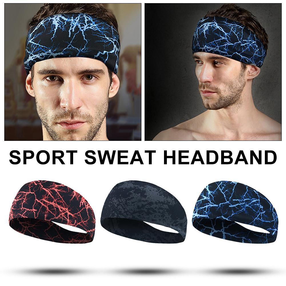 Absorbent Cycling Yoga Sport Sweat Headband Hair Bands Sweatband For Men Women #