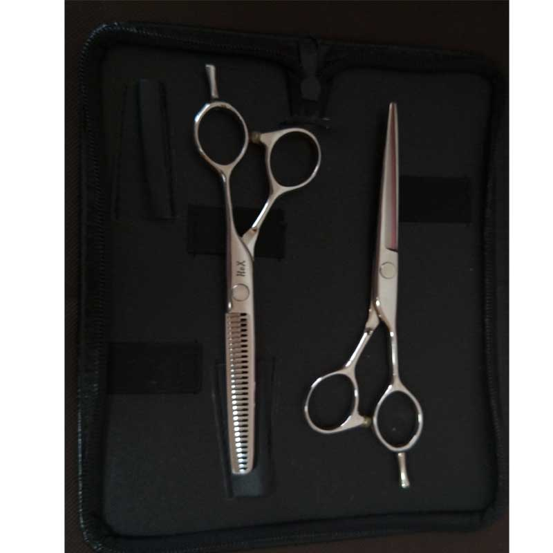 free case! professional high quality hairdressing scissors set 6 for hair cut 30 teeth thinning scissors free ship 6 hair cutting scissors high quality professional sus440c hair styling tools
