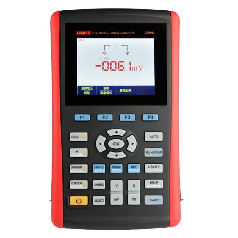 Portable UNI T UTD1025CL/25MHz UTD1050CL/50MHz 1CH 3.5 Color LCD 200MS/s Digital Multimeter Handheld Oscilloscope Scope Meters