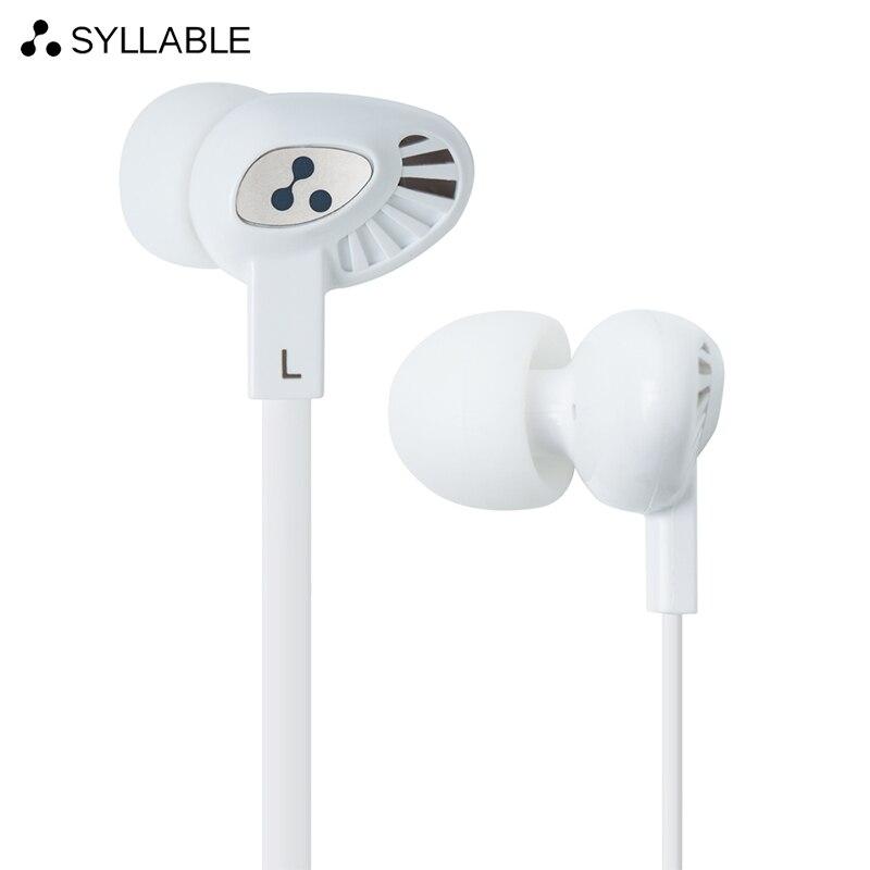 SYLLABE S200 casque filaire écouteurs in-ear casque pour mobile téléphone pour travail de bureau soutien musique sans microphone
