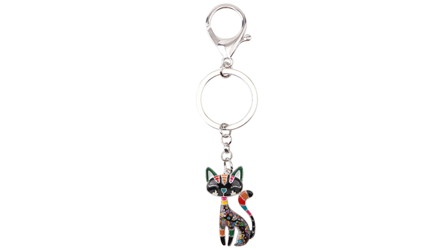 Cat Shaped Women's Keychains