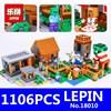 Village Marketplace Adventures Steve Blocks LEPIN 18010 1106pcs 79288 Kids Educational Toys For Children Compatible With