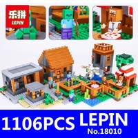 Village Marketplace Adventures Steve Building Blocks LEPIN 18010 1106pcs 79288 Educational Toys for Children Compatible 21128