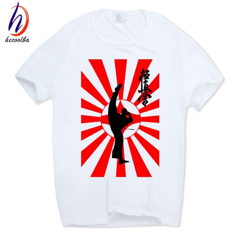 남자 인쇄 Kyokushin 가라데 한자와 심볼 티셔츠 O - 넥 반소매 티셔츠 T 셔츠 하라주쿠 Camisetas HCP699