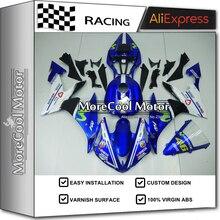 Kompletna YZF R1 2004-2006 Motocykl Fairing Nadwozie Dla Yamaha R1 2005 Niebieski I Biały Movistar Zestawy Darmowa Wysyłka