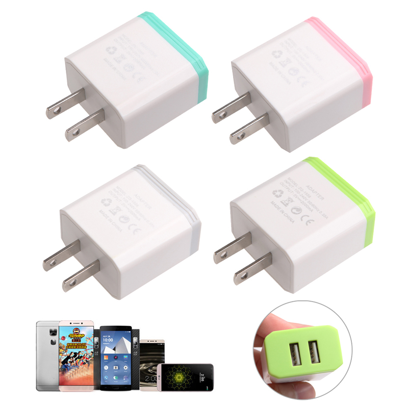 New 2019 arrival 5V 2A AC USB Power Wall Charger Adapter US Plug For Smart Phone HOT 2 Ports Hot Sale
